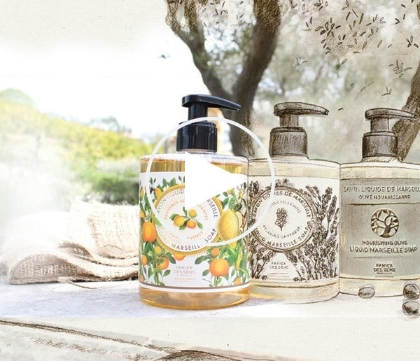 panier des sens VIDEO Marseille Liquid Soap